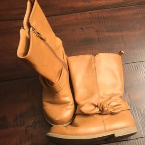 Old Navy Tall Tan Bow Riding Boots
